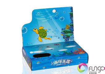 带翻盖型玩具包装盒印刷